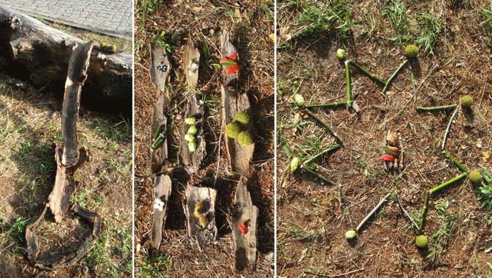 Landart-Spiele in der Natur